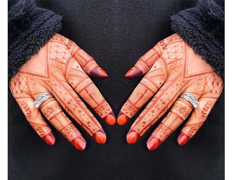 صورة نقش الحناء بالصور , صور رسومات حنة تجنن 6597 2