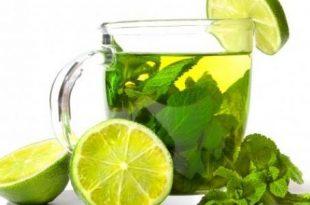 صورة الشاي الاخضر والليمون لازم يكون مشروب كل بيت , فوائد الشاي الاخضر بالليمون
