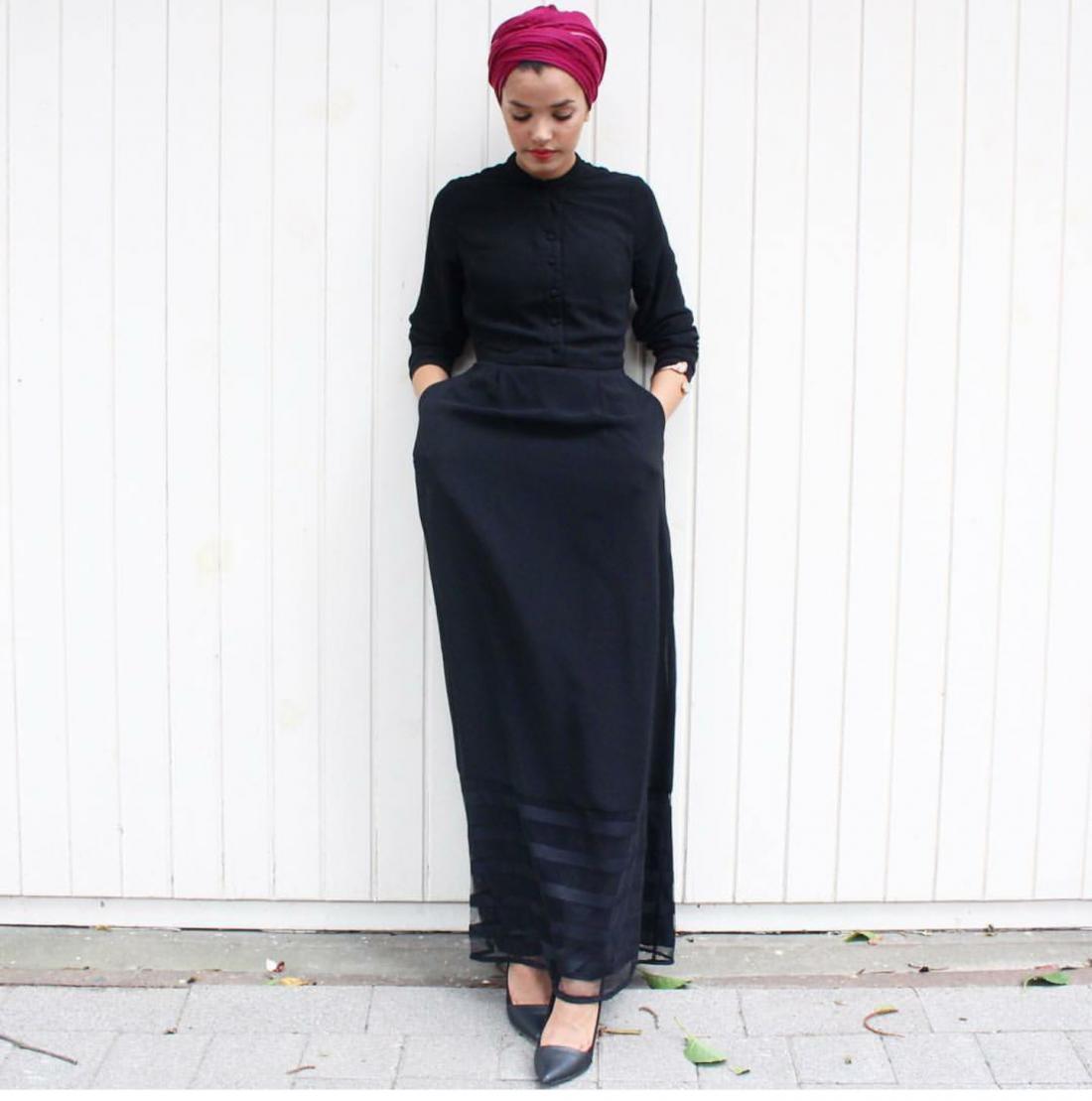 صورة ملابس سوداء للمحجبات 12336 5
