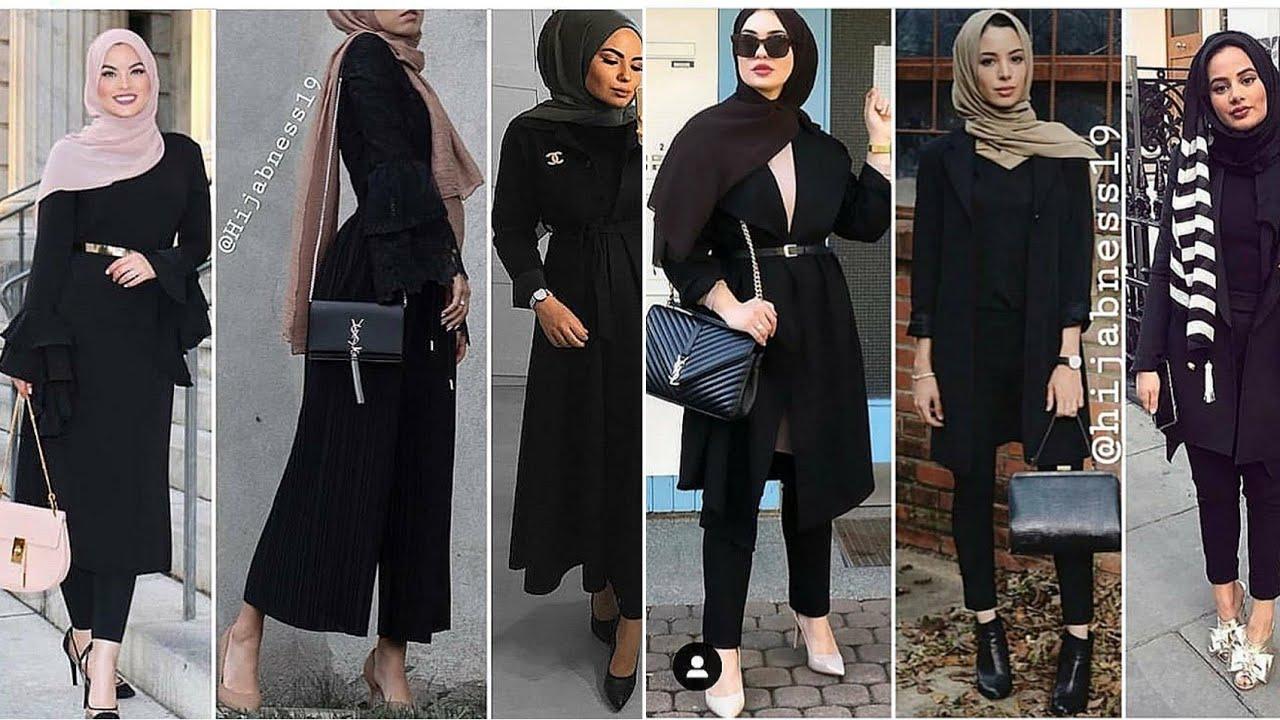 صورة ملابس سوداء للمحجبات 12336