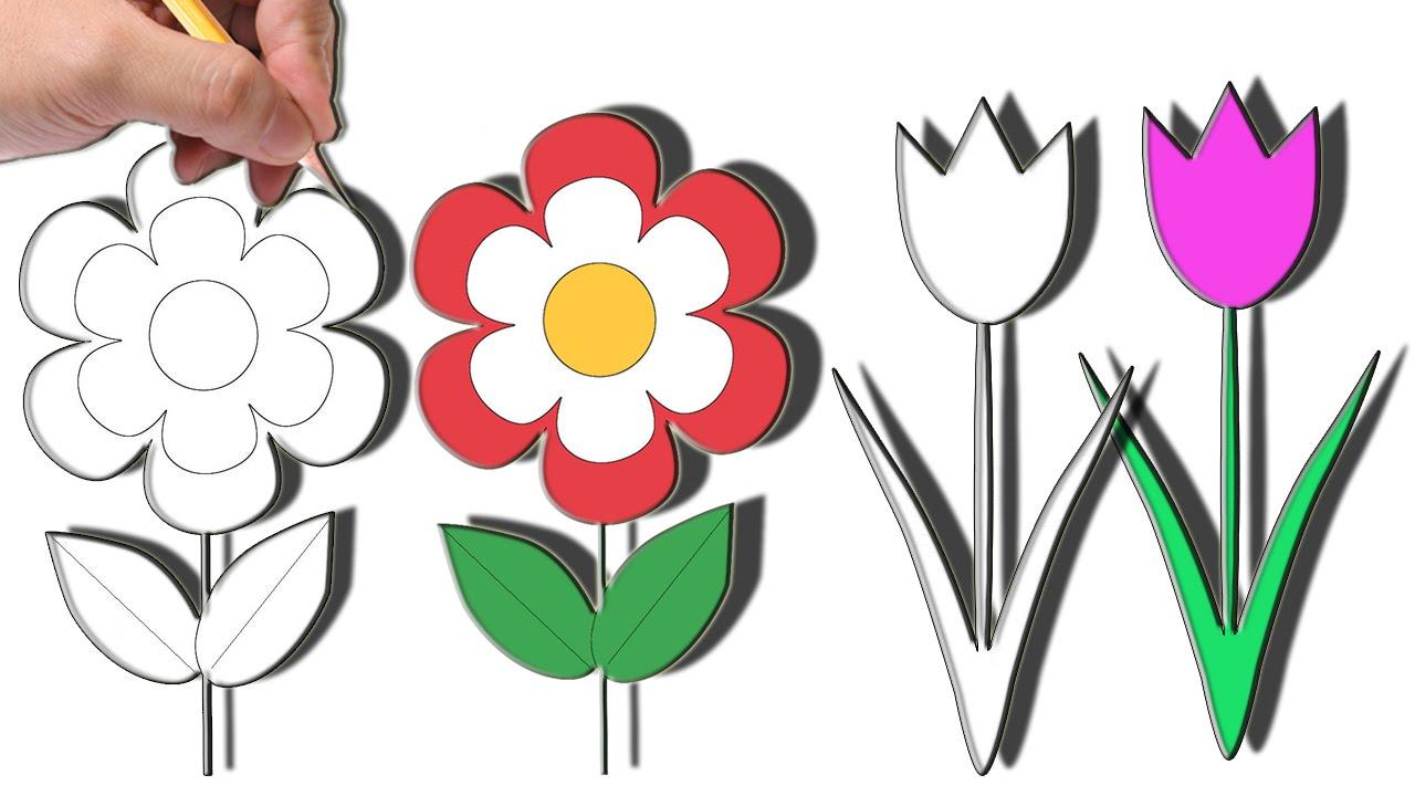 صورة تعلم الرسم الورود 12345 2