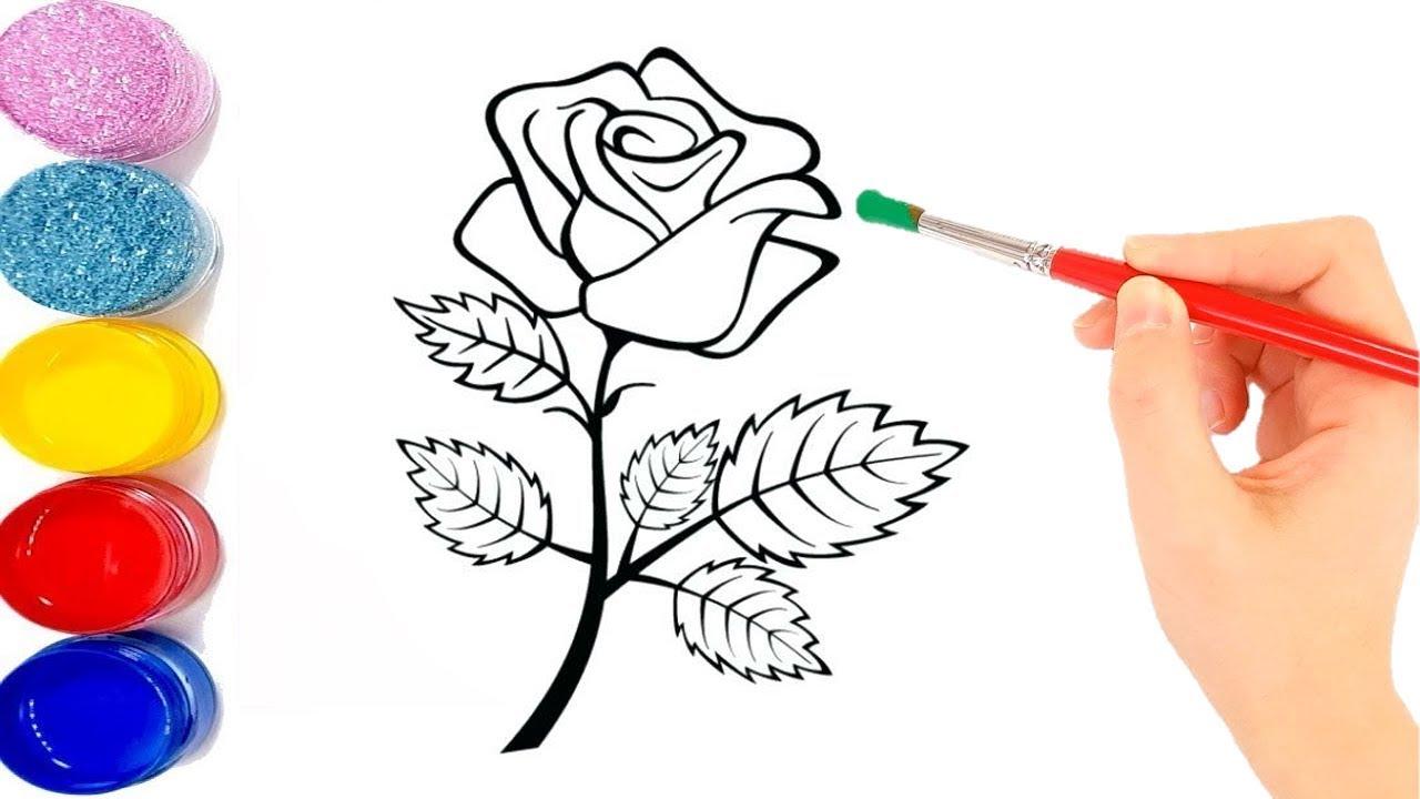 صورة تعلم الرسم الورود 12345 5