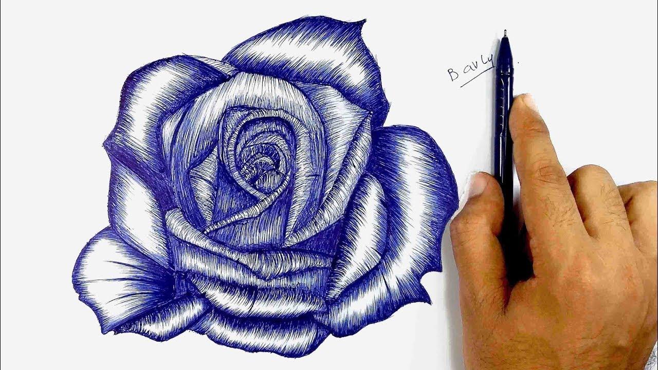 صورة تعلم الرسم الورود 12345 8