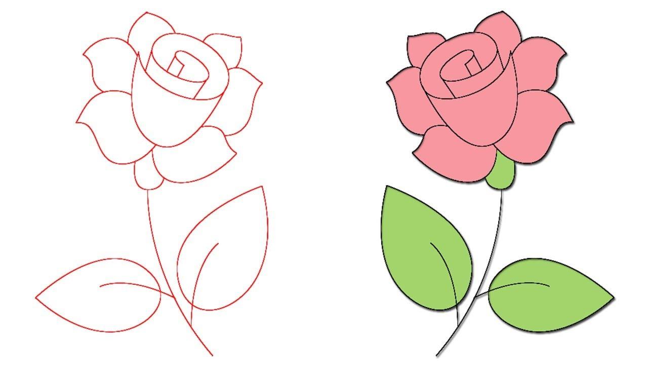 صورة تعلم الرسم الورود 12345